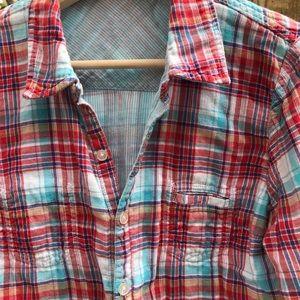 Volcom Tops - Reversible plaid shirt